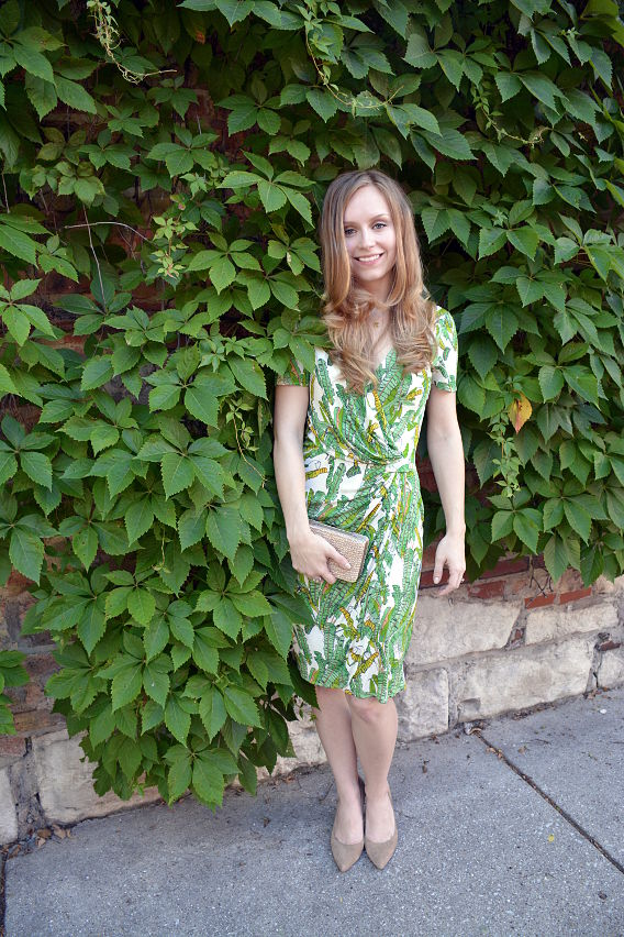 Issa London Palm Print Dress