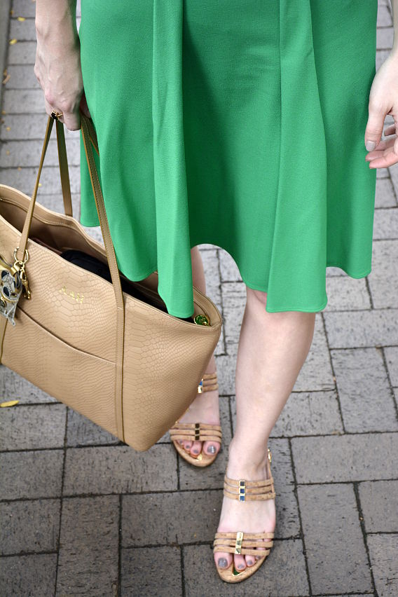 Issa London Green Dress Details