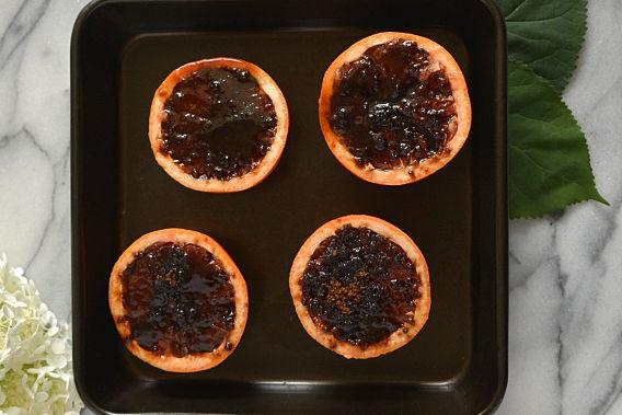 Prepping Grapefruit Brulee