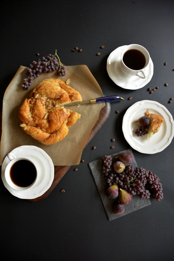 Almond Danish Breakfast with Fruit