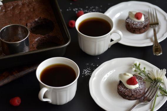 Gourmet Brownie Hack Brownies and Coffee