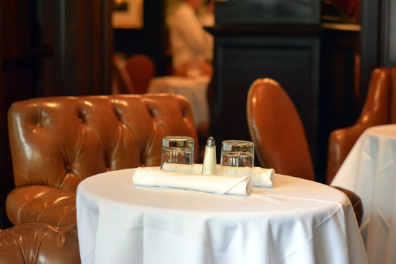 RL Restaurant Chicago Leather Chairs