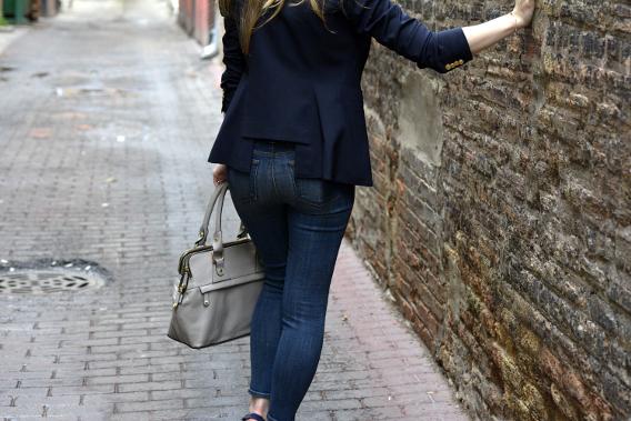 Smythe Blazer and J Brand Jeans Back