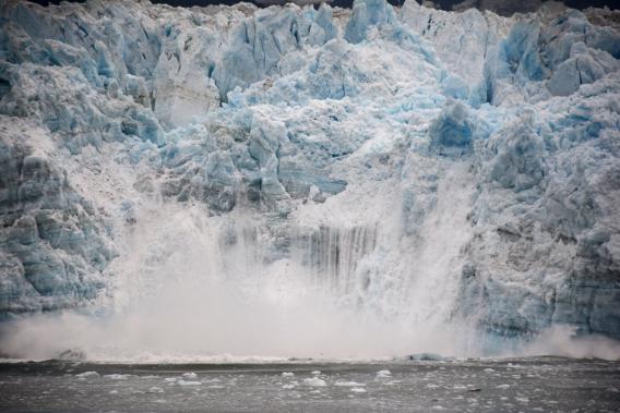 Alaska Hubbard Glacier Calving