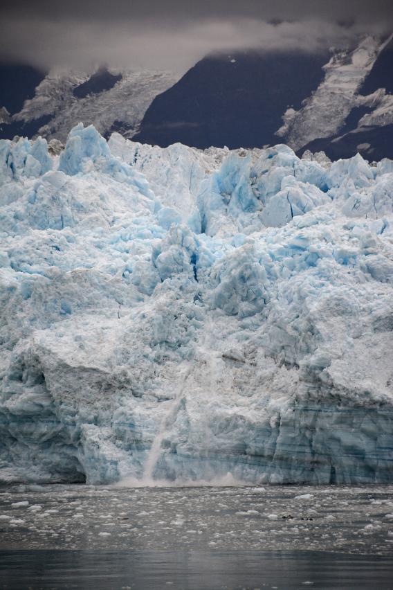 Blue Hubbard Glacier Calving