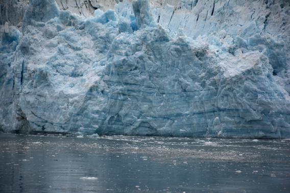 Blue Hubbard Glacier veins