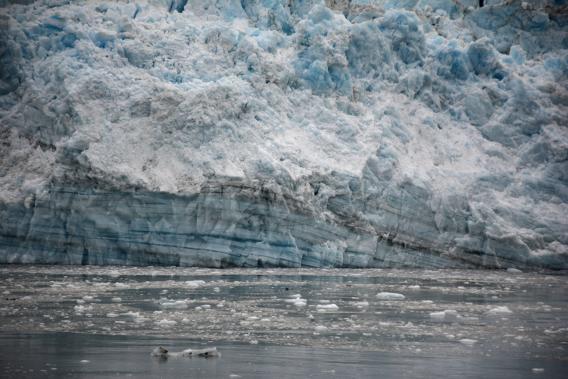 Blue Stripe Vein Hubbard Glacier Alaska
