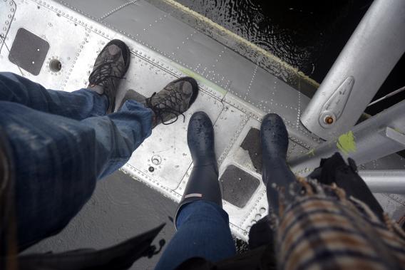 Feet on Floatplane in Misty Fjords