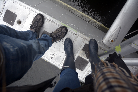 Feet on Floatplane in Misty Fjords