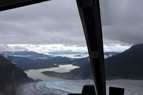 Helicopter Takeoff Mendenhall Glacier