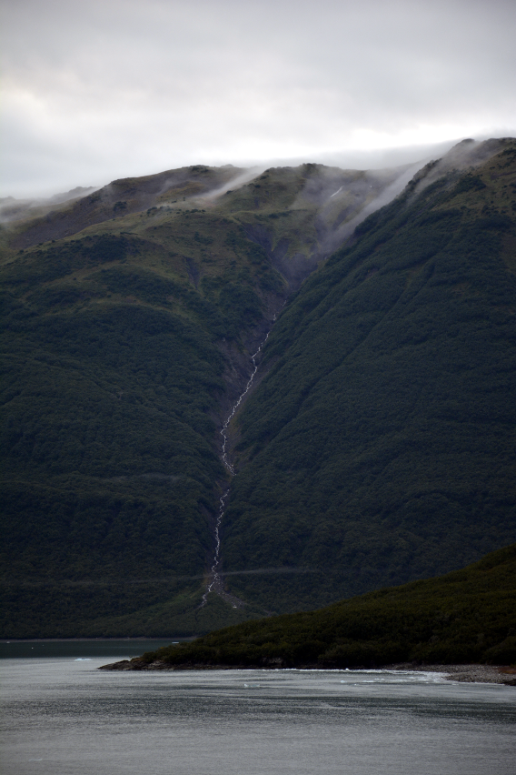 Hubbard Glacier Forest Waterfall Mist