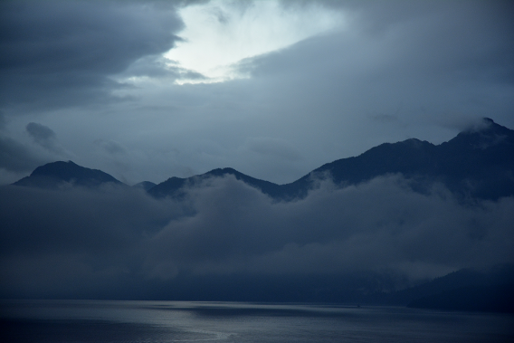 Inner Passage Mountains in Mist