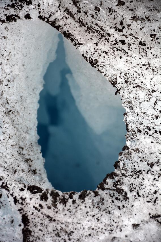 Mendenhall Glacier Hole Close Up
