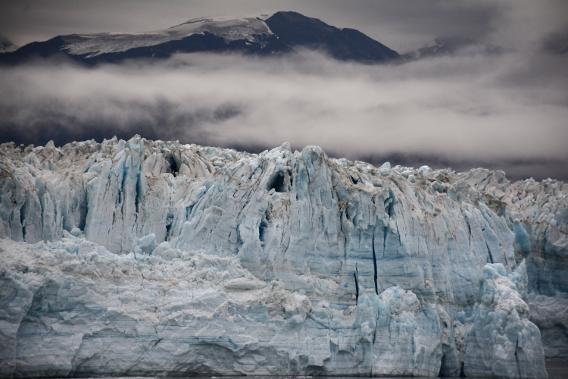 Misty Alaska Hubbard Glacier