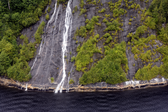 Misty Fjords Lake Waterfall