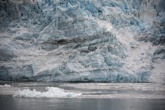 Striping on Hubbard Glacier