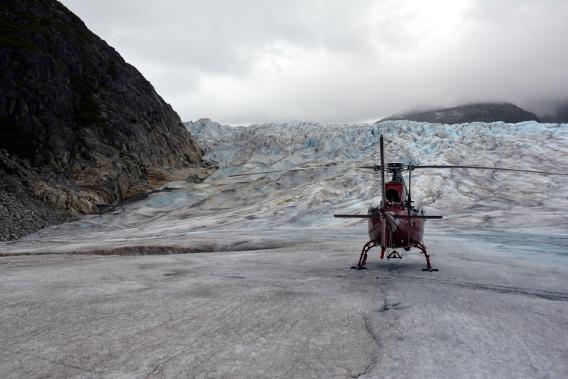Temsco Helicopter Herbert Glacier Landing