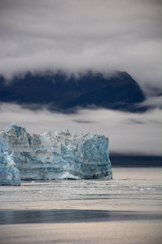 Vertical Alaska Hubbard Glacier