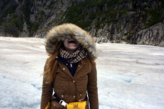 Zara Coat Aquascutum Scarf on Herbert Glacier