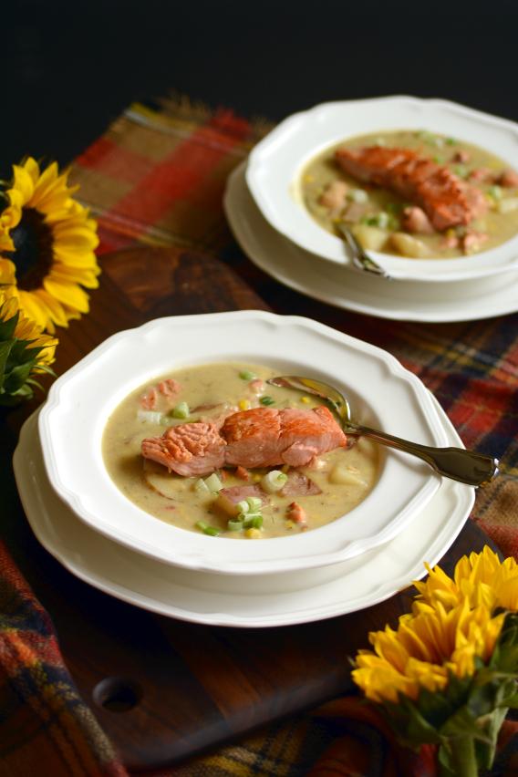 Salmon Chowder Stew Soup Recipe