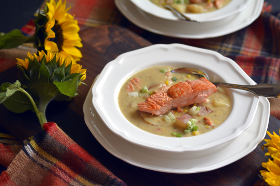 Autumn Chowder Salmon Soup Recipe