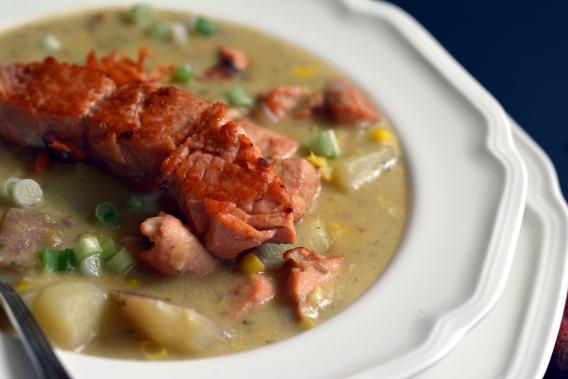 Salmon Chowder Soup Recipe Fillet