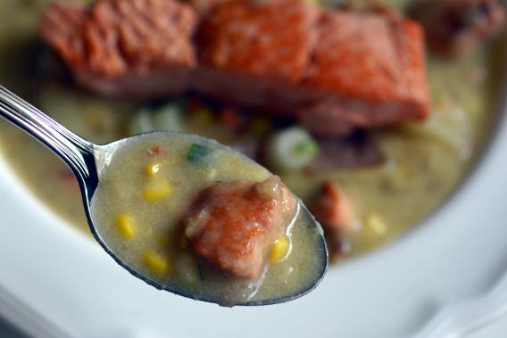 Spoonful of Salmon Chowder Recipe Corn