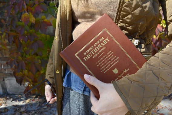 Kate Spade Modern English Dictionary Book Novel Clutch