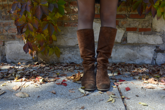 Franco Sarto Artisan Brown Chocolate Suede Boots