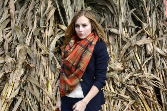Sed Bona Autumn Zara Blanket Scarf Smythe Blazer