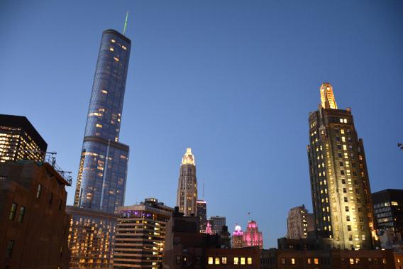 Chicago MCA Apartments Rooftop Trump Building