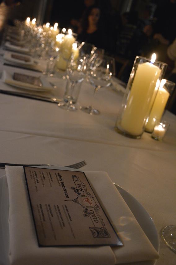 Virgin Hotels Peep Show Dinner Menus October 2014