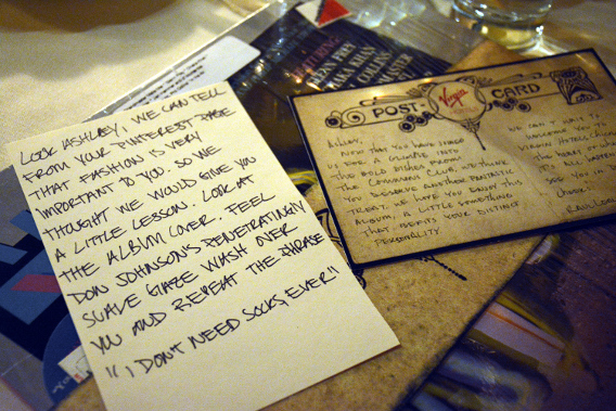 Virgin Hotels Chicago Peep Show Personalized Dinner Gift and Letter