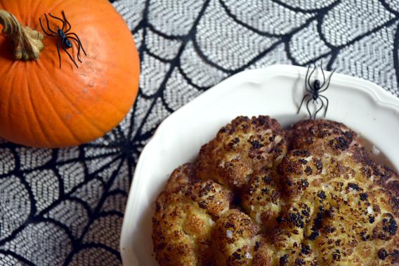 Halloween Whole Roasted Cauliflower Brain 4