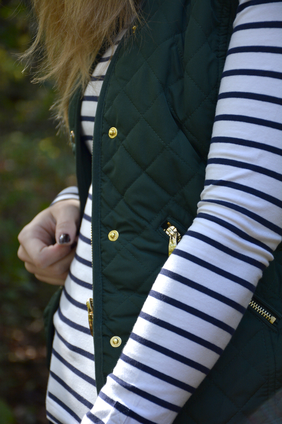 Breton Stripes and Hunter Green