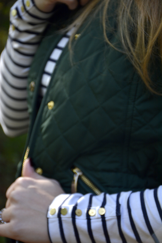 Gold Buttons and Breton Stripes