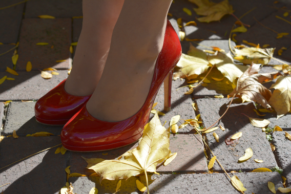 LK Bennett London Red Sledge Pumps Heels