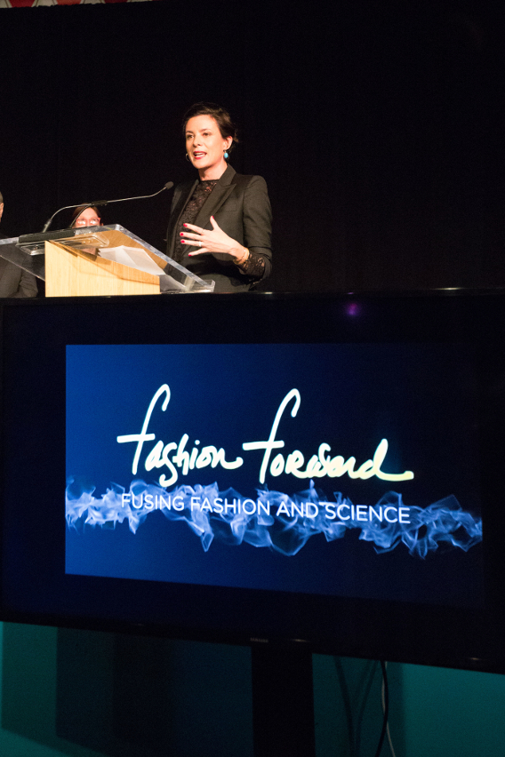 Garance Doré at the Fashion Forward Event at Chicago's Museum of Science and Industry, November 2014
