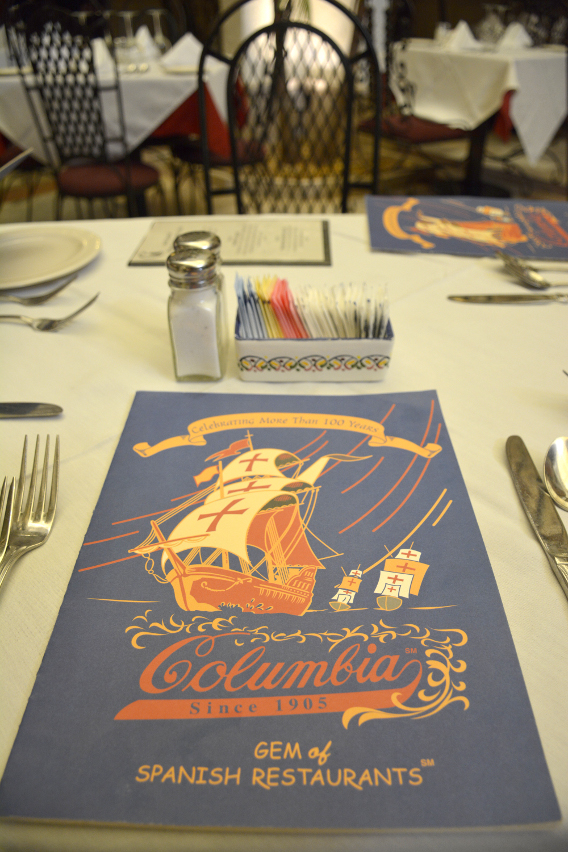 Columbia Restaurant Menu