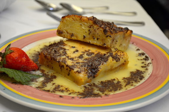Columbia Restaurant White Chocolate Bread Pudding