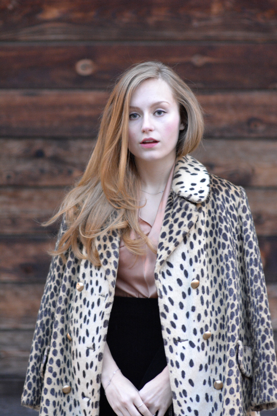 Vintage Leopard Print Coat