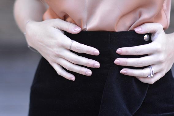 Givenchy Velvet Ruffle Skirt