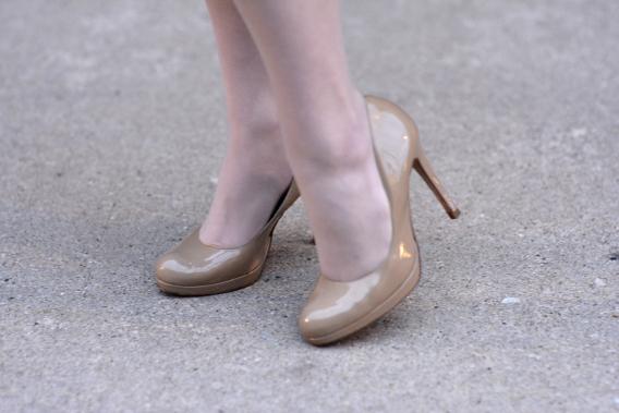 LK Bennett Taupe Sledge Pumps Heels