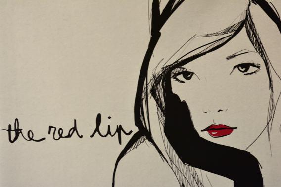 Garance Doré Red Lips Illustration
