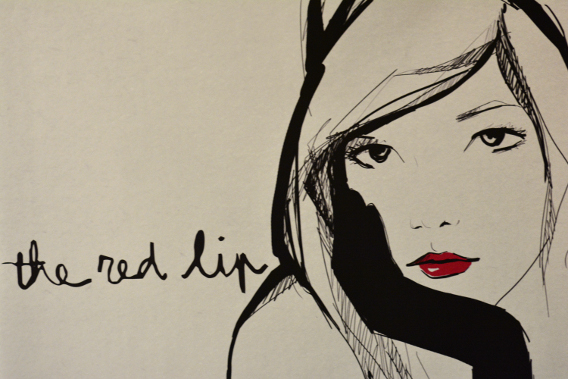Garance Doré Red Lips Illustration