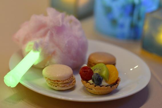Light Up Cotton Candy Dessert Bar
