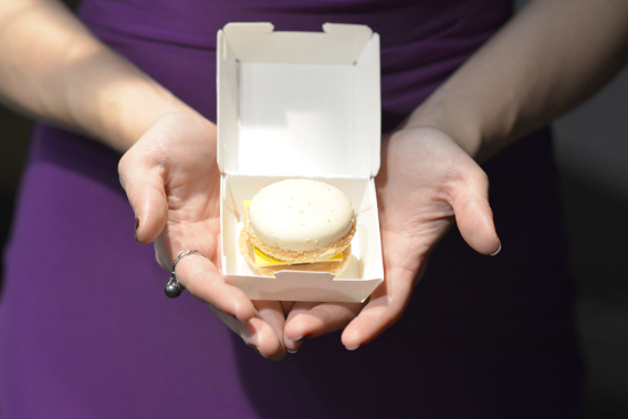 Cheeseburger Macarons at the Sofitel Chicago
