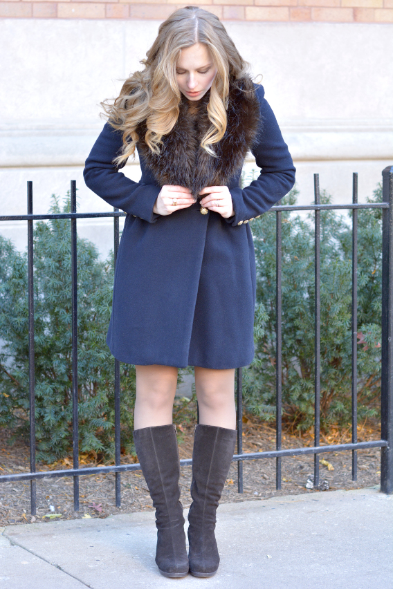 Brown and Navy Winter Outfit