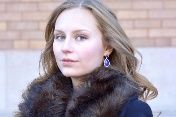 Jeri Cohen Lapis Lazuli Drop Earrings