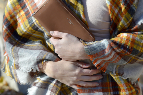 LK Bennett Wallet and Blanket Scarf
